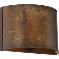 """Nuvo Lighting 60/5891 Kettle Single Light 8"""" Tall Wall Sconce with Metal Shade - weathered brass"""