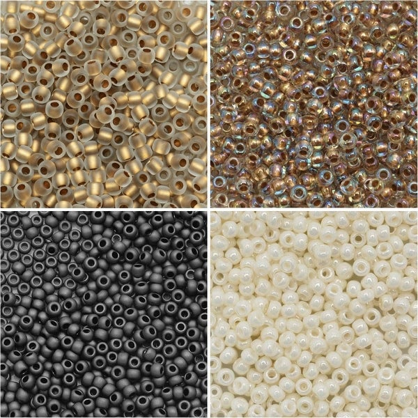 Exclusive Beadaholique Toho Seed Bead Palette, Round 11/0, 32 Grams, Campfire