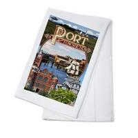 Port Townsend, WA - Montage Scenes - LP Artwork (100% Cotton Towel Absorbent)