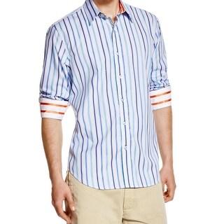 Robert Graham NEW Blue Striped Mens Size XL Button Down Cotton