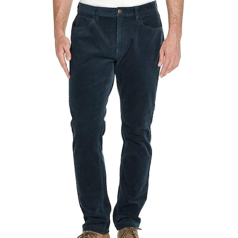 Weatherproof Mens Pants Ombre Teal Blue 40x32 Straight Stretch Corduroy