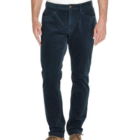 Weatherproof Mens Pants Ombre Teal Blue Size 40x32 Slim Stretch Corduroy