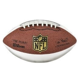 Wilson NFL Mini 3 White Panel Autograph Football  F1691