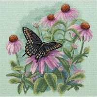 "Butterfly & Daisies Counted Cross Stitch Kit-11""X11"""