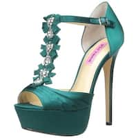 Betsey Johnson Womens Elizabeth Peep Toe Special Occasion Ankle Strap Sandals