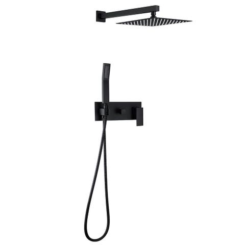 Wall Mounted Bathroom Rain Shower System with Rough-in Valve