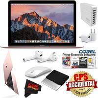 """Apple 12"""" MacBook (Mid 2017 Rose Gold) 256GB SSD (MNYM2LL/A) + 2.4 GHz Slim Optical Wireless Bluetooth Bundle"""
