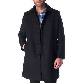 Link to Hammer Anvil Orson Mens Wool Blend Single Breasted Walking Coat - Black Similar Items in Men's Outerwear