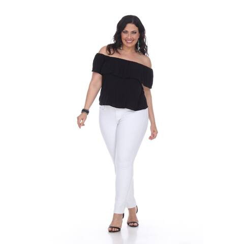 Plus Size Super Stretch Denim - White