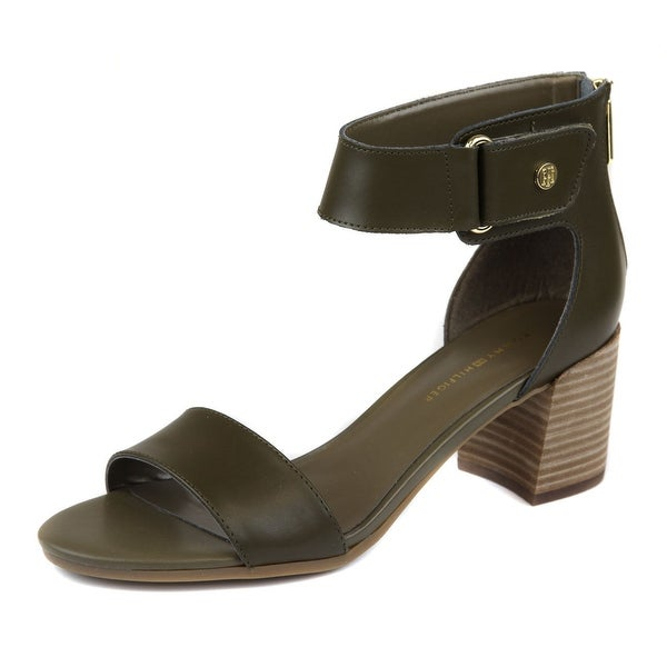 Tommy Hilfiger Womens Charlot Leather Open Toe Casual Ankle Strap Sandals - 8