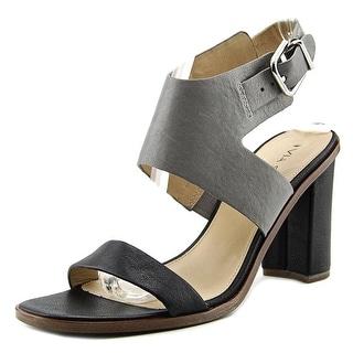 Via Spiga Belia Women Open-Toe Leather Gray Slingback Heel