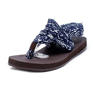 Rampage Rebecky Open Toe Canvas Thong Sandal