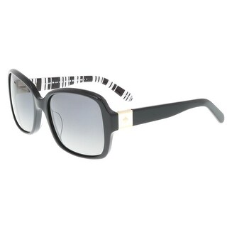 Kate Spade - Annora/P/S 0INA Black Palladium Square Sunglasses - 54-18-130