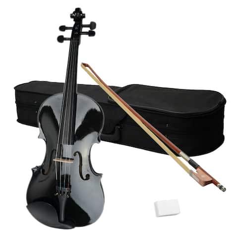 "15"" Acoustic Viola Case Bow Rosin Black/ Nature"