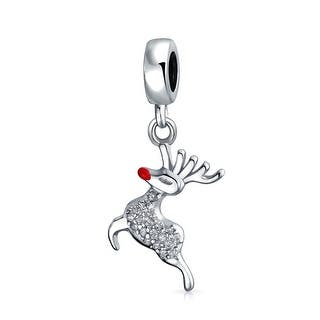 Bling Jewelry 925 Sterling Silver Rudolph Christmas Reindeer Dangle Bead Charm|https://ak1.ostkcdn.com/images/products/is/images/direct/882140e5263aa61662b49f4456d523b211d0a047/Bling-Jewelry-925-Sterling-Silver-Rudolph-Christmas-Reindeer-Dangle-Bead-Charm.jpg?impolicy=medium