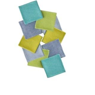 Set of 10 Multi-Colored Aruba Inspired Dish Cloth Kitchen Accessory Set