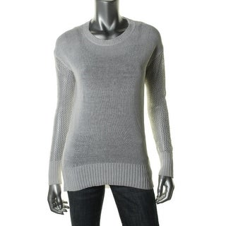 DKNY Womens Knit Long Sleeves Crewneck Sweater - M