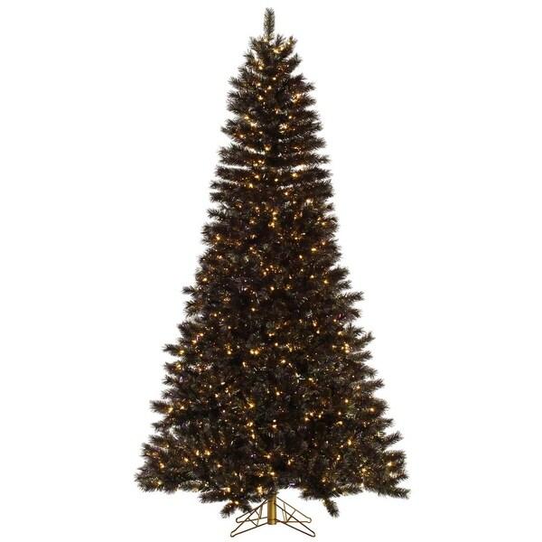6.5' Pre-Lit Mardi Gras Tinsel Christmas Tree - Clear Dura Lit Lights - green