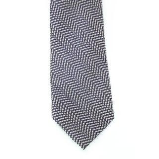 Black Brown 3406 NEW Blue Gray Woven Textured Men's Neck Tie Wool