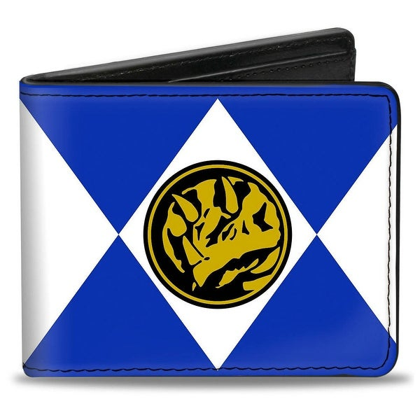 Diamond Blue Ranger Triceratops Power Logo Bi Fold Wallet - One Size Fits most