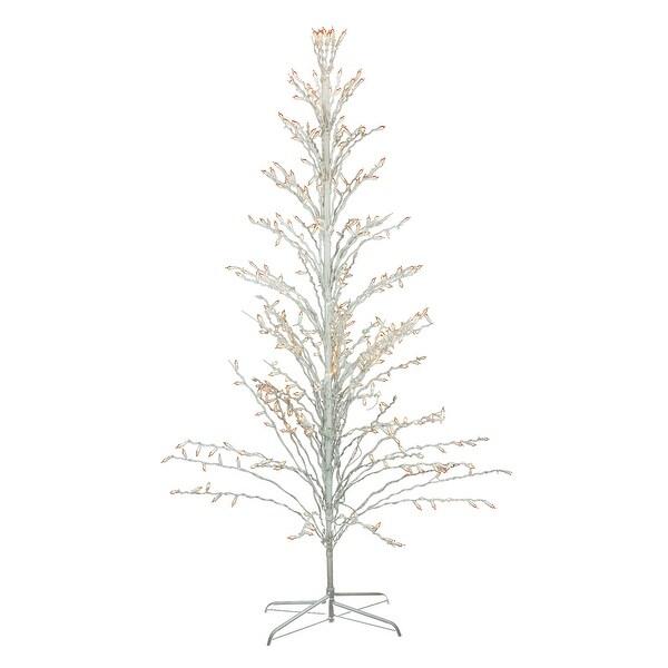 Outdoor White Twig Christmas Tree: Shop 6' White Lighted Christmas Cascade Twig Tree Outdoor