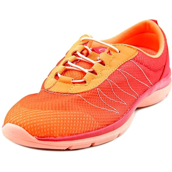 Easy Spirit e360 Quizit Women W Round Toe Canvas Orange Running Shoe