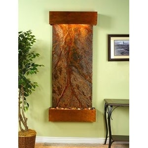 Adagio Inspiration Falls With Brown Rainforest Marble in Rustic Copper Finish an