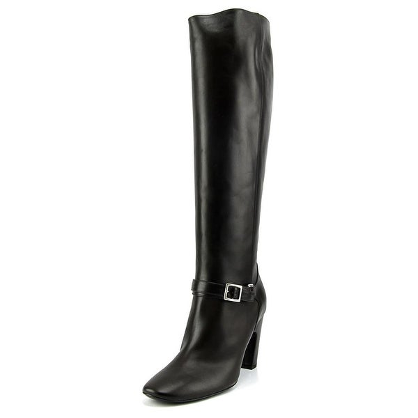 Roger Vivier Stivale Cinturino T. 85 Women Leather Black Knee High Boot