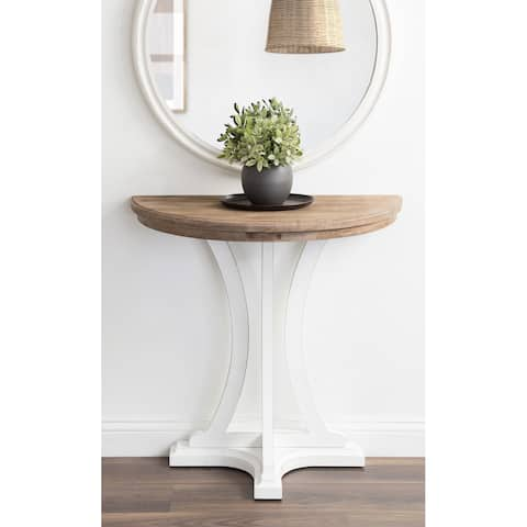Kate and Laurel Linsley Wood Console Table - 30x15x31