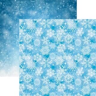 "Snowflake Ridge Double-Sided Cardstock 12""X12""-Falling Snow"