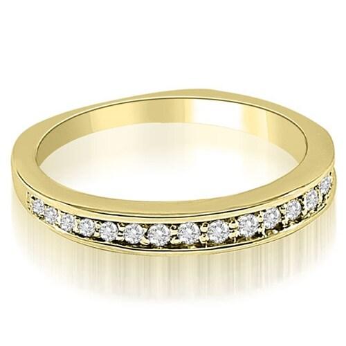 0.25 cttw. 14K Yellow Gold Round Cut Diamond Wedding Ring