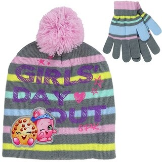 Shopkins Girls Day Out Beanie and Glove Set
