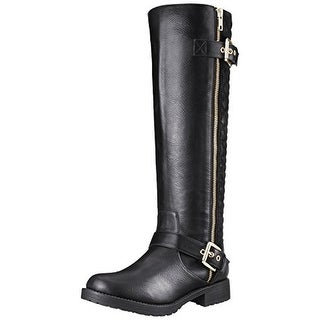 Penny Loves Kenny Womens Dallas Motorcycle Boots Faux Leather Quilted (5 options available)