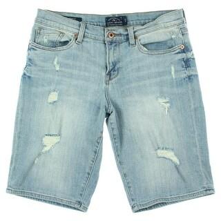 Lucky Brand Womens The Bermuda Denim Destroyed Bermuda Shorts
