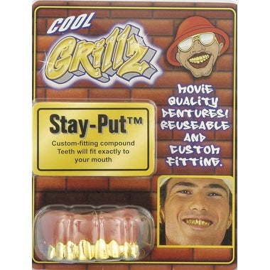 Grillz Stay Put Gold Teeth - one-size: regular