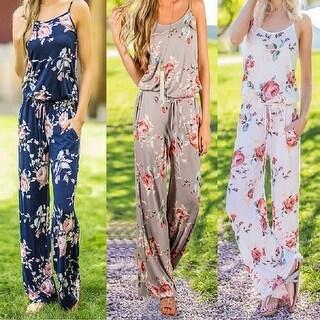 Floral Print Jumpsuit Romper (S-2X)