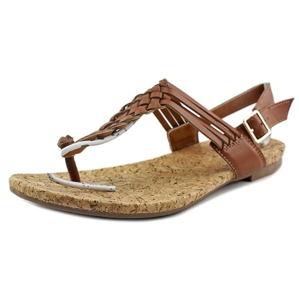 Rampage Quipper Women Open-Toe Synthetic Brown Slingback Sandal