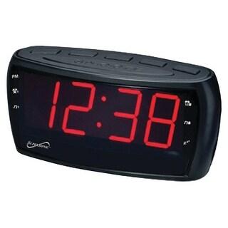 Supersonic sc-379 digital am/fm dual alarm clock radio with jumbo digital display
