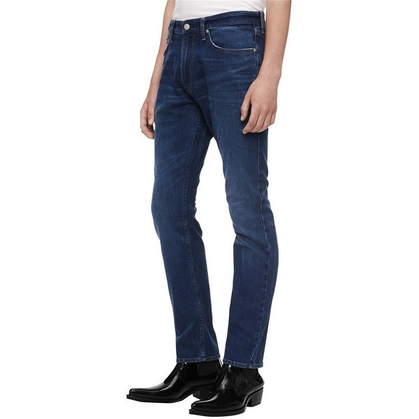 Calvin Klein Mens Athletic Tapered Relaxed Jeans, blue, 31W x 30L - 31W x 30L. Opens flyout.