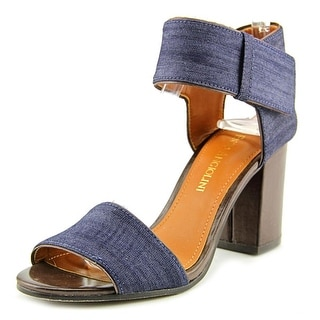Enzo Angiolini Gwindell Open Toe Canvas Sandals