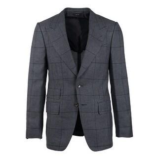 Tom Ford Grey Silk Shelton Windowpane Sport Jacket - 36 r