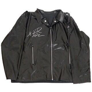Henry Winkler Signed Black Costume Replica Biker Jacket wFonz