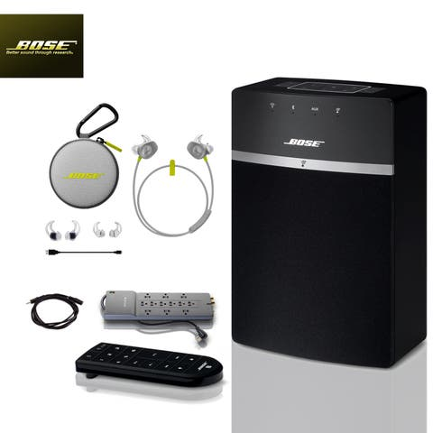 Bose SoundTouch 10 (Black) + Citron SoundSports + 2 pc Acc Bundle