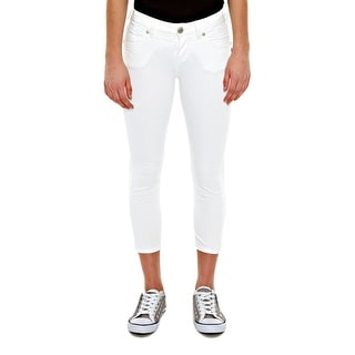 Silver Jeans Denim Capri Womens Suki Relaxed White L44946SWHWHT