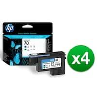 HP 70 Blue & Green DesignJet Printhead (C9408A) (4-Pack)