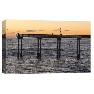 "PTM Images 9-102242  PTM Canvas Collection 8"" x 10"" - ""Ocean Beach Pier"" Giclee Coastlines Art Print on Canvas"