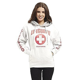 Official Lifeguard Ladies California Hoodie White X-Large