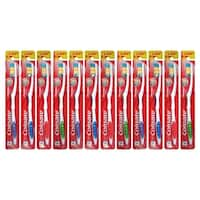 Colgate Premier Clean Bi-level Bristles Toothbrush, Firm, 12-Pieces