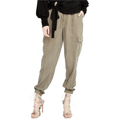Rachel Roy Womens Drawstring Casual Cargo Pants, green, X-Large