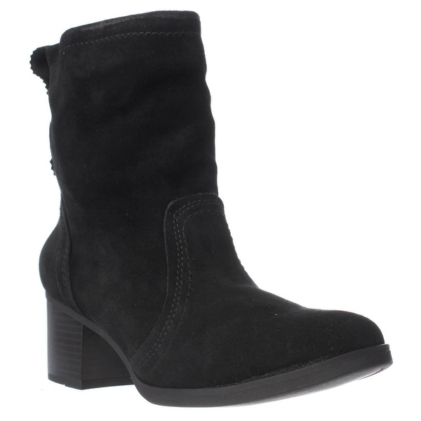 White Mountain Behari Pull On Ankle Boots, Black